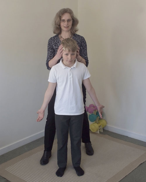 Correcting Posture Of Child