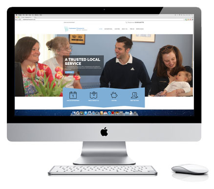 Haslemere Chiropractic Clinic Homepage Displayed On iMac Screen