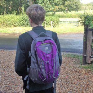 Child With School Backpack
